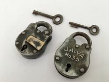Lock 2 Pic Old Vintage Rare Iron Lock and Key Collectible Aligarh B5