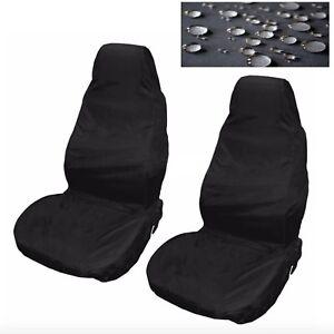 Auto Sitzbezüge Wasserfest Nylon Vorne 2 Protektoren Schwarz FT
