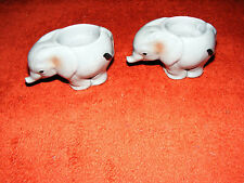 """Country  Artists  Tuskers  Pair  Of  Elephant  Candle  Holders ?  Height  2.1/4"""""""