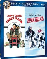 FUNNY FARM + SPIES LIKE US New Blu-ray Double Feature Chevy Chase Dan Aykroyd