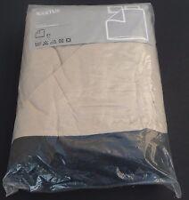 NEW Ikea Full Queen Duvet Cover & Pillowcases Cotton ALVINE KAKTUS tan