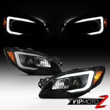 {LED Neon Tube DRL} 06 07 Subaru Impreza/WRX Black Housing Projector Headlight