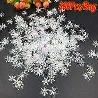 300X Classic Shiny Snowflake Ornaments Christmas Tree Holiday Party Home Decors