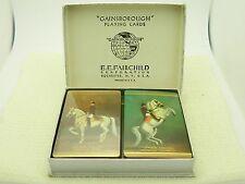 VTG Gainsborough Playing Cards E.E. Fairchild Rochester Lippizan Stallion Dual