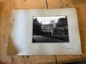 ANTIQUE/VINTAGE PHOTO OF THE DEANERY AT WINCHESTER CATHEDRAL (ENGLAND) A4-SIZED