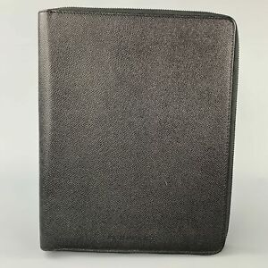 BURBERRY Black Pebble Grain Leather iPad Case