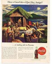 1944 Coca Cola WW2 US Army Soldiers In Panama art by STEVEN DOHANOS Vtg Print Ad