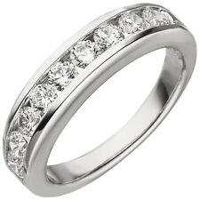 JOBO Damen Ring 52mm 925 Sterling Silber 9 Zirkonia Silberring