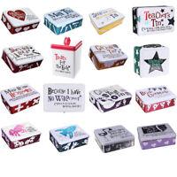 Bright Side Storage Tin Box Lock Wedding Keepsake Christmas Birthday Home Gift