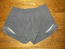 Lululemon Women's TRACKER SHORTS lll 4-Way Stretch Graphite Grey Size 10 Tall
