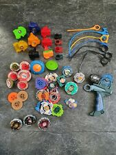 BEYBLADE BUNDLE *GENUINE* LAUNCHERS,WHEELS,LOT,METAL FUSION,CORDS