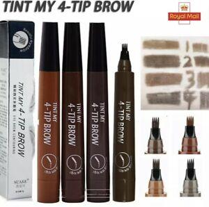 Eyebrow Pen Tattoo Microblading Waterproof 4 Fork Tip Makeup Eyebrow Pencil Ink