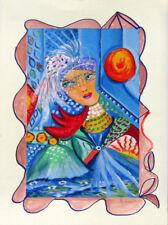 """MARIA MURGIA - """"Composizione"""" -Serigrafia 30 colori cm 40x30 PEZZO UNICO DIPINTO"""