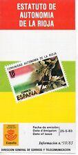 España Estatuto de Autonomía de La Rioja año 1983 (DT-336)