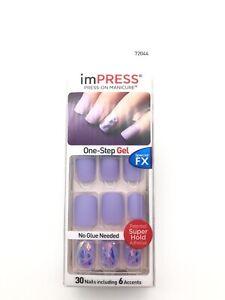 imPress Press On Nails Special FX Gel 72044 Boss Lady Matte Purple Iridescent