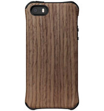 Ballistic Urbanite Select Case for Apple iPhone SE/5s/5 - Black/Dark Ash Wood
