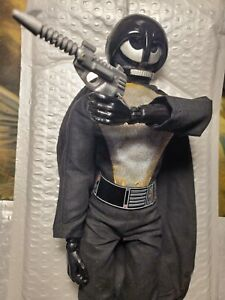 "1977 Ideal Knight Of Darkness Star Team 12"" Figure W/GUN Star Wars Vader KO"