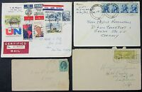 US Postage Cover Great Falls Wilmington Airmail Germany Lupo 4 Letters (L-4086