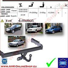 volkswagen passat b5 año 1996-2005 anexos dispositivo enganche remolque ahzv Remol