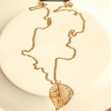 """New 33"""" Forever21 Leaf Pendant Necklace Long Xmas Gift FS Fashion Women Jewelry"""