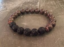 Essential Oil Diffuser Lava Rock Brown Snow Jasper Bracelet Aromatherapy