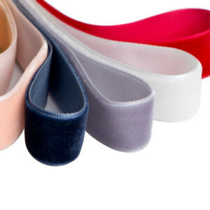 20M Velvet Flocking Ribbon Trim Roll DIY Bowknot Gifts Wrapping Material Crafts