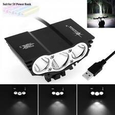 15000LM SolarStorm 3 x CREE XM-L T6 LED 4 Modes USB Bike Bicycle Light Headlamp