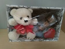 VALENTINES GIFT PRESENT LUXURY HAMPER - TEDDY / PLUSH + CHOCOLATES + HEART TIN