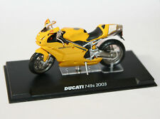 ALTAYA/IXO DUCATI 749s YELLOW 2003 MOTOR BIKE IN PLASTIC CASE NEW SCALE 1-24