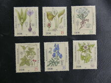 THEMATIQUE FLEURS / NATURE : ALLEMAGNE DDR Yvert N° 2341 à 2346** NEUF - TBE