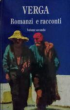 GIOVANNI VERGA ROMANZI E RACCONTI VOLUME SECONDO 2 II 2° SANSONI 1993