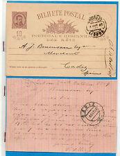 Portugal Entero Postal circulado Lisboa Cadiz año 1889 (CP-739)