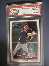 BRYCE HARPER 2012 Bowman Chrome Prospects #BCP10 PSA GEM MINT 10 RC Nationals