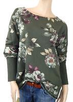 Ella Jonte Sweatshirt grün Sweat Pullover 44 46 Blumen Made in Italy Baumwolle
