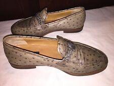 VTG Versace Men's Ostrich Men's  Slip On Loafer Shoes Sz 43 (9.5 - 10 US)