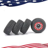4pcs Short Course Truck Tire 12mm Hex Bead-Lock Wheels Rim For 1/10 RC Model Car
