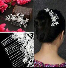 Fermaglio Pettine capelli matrimonio con strass di cristallo e perle finte