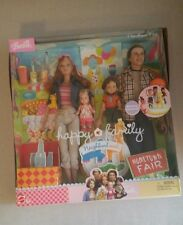 NIB Barbie Happy Family Neighborhood Hometown Fair Mattel