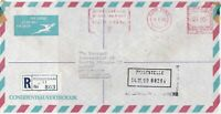 South Africa 1980 Barclays Bank Regd Airmail Meter Mail Stamp Cover Ref 29962