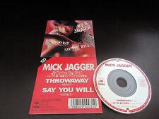 Mick Jagger Throwaway Japan 3 inch Mini CD Single in 1987 Rolling Stones