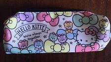 NWOT Sanrio Hello Kitty Pastel Rainbow Bows Kawaii Pencil Zip Case Cosmetic Bag