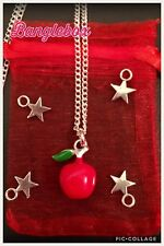DISNEY DESCENDANTS Red APPLE CHARM Silver Plated NECKLACE Birthday Gift