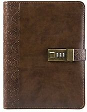 SAIBANG PU Leather Journal Writing Notebook, Vintage Bound Daily Notepad with