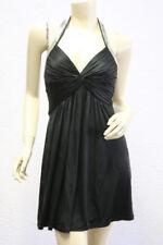 $248 BCBG BLACK (IRT6D346) SEQUIN JERSEY HALTER MINI DRESS NWT S