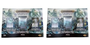 Warhammer Age of Sigmar: Champions Warband Pack Trading Card Game Bundle of 2