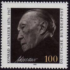 Allemagne de l'ouest neuf sans charnière stamp set deutsche bundespost konrad adenauer 1992 sg 2447
