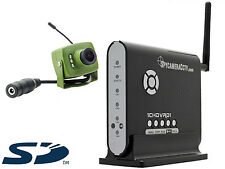 Green Feathers Wireless Bird Box Camera & SD Card Recorder Kit with Night Vision