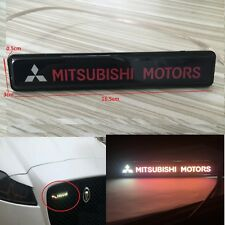 Mitsubishi Logo LED Light Car Front Grille Badge Emblem Illuminated Sticker