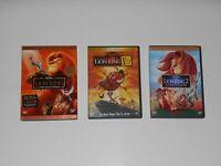 Disney LION KING DVD Trilogy: 1 (1 disc) & 1 1/2 (2 disc) & 2 (1 disc)