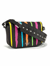 NWT VICTORIA'S SECRET ANGEL CROSSBODY PURSE STUDDED HAND BAG MULTI-COLOR STRIPES
